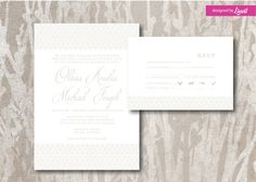 Minimalist wedding invitation-Digital wedding invitation-Printable wedding invitation set-Custom wedding invitation  by Linvit on Etsy