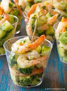 Healthy Garlic Lime Roasted Shrimp Salad Recipe for Spring and Summer! Shrimp Salad Recipes, Seafood Salad, Salad Recipes For Dinner, Seafood Recipes, Appetizer Recipes, Seafood Appetizers, Vegan Appetizers, Healthy Recipes, Cooking Recipes