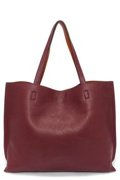 Switch it Up Reversible Burgundy Tote