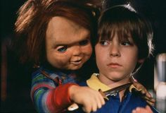 Chucky and Alex Vincent All Horror Movies, Horror Films, Horror Icons, Horror Art, Scary Movie Characters, Scary Movies, Child's Play Movie, Film Movie, Childs Play Chucky