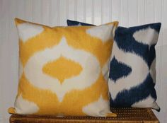 Couch? Decorative Pillow Cover Ikat Design 20 X 20 by ArtisticCotton, $20.95