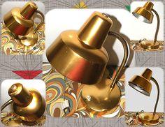 Lámpara color bronce años 50.
