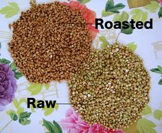 roasted vs. raw buckwheat