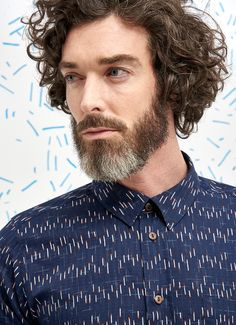 Percival Clothing | Classic Shirt - Navy Matchstick - All