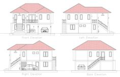 Cool House Concept Two-Storey with 5 Bedrooms - Cool House Concepts Modern Bedroom Design, Contemporary Bedroom, Modern House Design, 5 Bedroom House Plans, Duplex House Plans, Two Story House Plans, Dream House Plans, Minecraft Bedding, Two Storey House