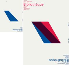 BIBLIOTHEQUE, DESIGN MUSEUM LONG LUNCH LECTURE POSTER: red/blue. accent. omg.