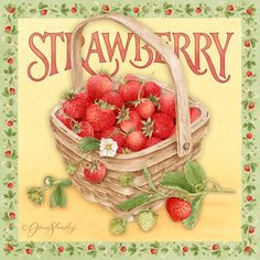 Artists Represented : Licensing Liaison : A Full Service Art Licensing Agency Strawberry Kitchen, Strawberry Farm, Strawberry Delight, Strawberry Fields Forever, Strawberry Patch, Strawberry Recipes, Strawberry Shortcake, Decoupage Vintage, Vintage Diy