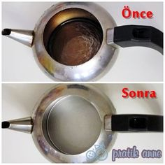 vinegar + baking soda = cleaning a teapot - Food: Veggie tables
