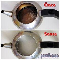 Kararmış demliği, kireçlenmiş çaydanlığı ve kararmış metalleri temizlemek | Pratik Anne