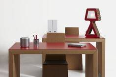 Cardboard furniture from #Kubedesign collection - #cardboard architectures