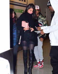 January 20: Selena arriving at JFK Airport in New York City, NY