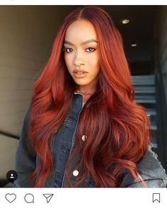 Rainbow Hairstyles Natural Hair hair Hair styles, Hair color black women with red hair - Red Hair People With Red Hair, Girls With Red Hair, Black People, Red Hair Sew In, Red Sew In, Red Hair Color, Cool Hair Color, Weave Hair Color, Color Black