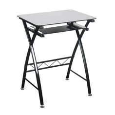 Bonsoni is proud to present this Chicago Computer Desk by Lloyd Phillip & Delric which has Assembled Dimension: 600 x 450 x 760. A trendy looking computer station with a black glass top and pull out shelf, thats ideal for those with limited space who regularly work from home and need a permanent base for their PC.  http://www.bonsoni.com/chicago-computer-desk-by-lloyd-phillip-delric
