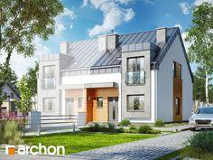Projekt domu Dom pod miłorzębem 9 (BN) - ARCHON+ House Construction Plan, Villa, Modern House Design, Modern Architecture, Homesteading, House Plans, New Homes, Mansions, House Styles