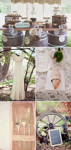 Inspiración para Bodas Vintage y Románticas. Ideas para inspiraros y ayudaros en la decoración de una boda de temática vintage o romántica.