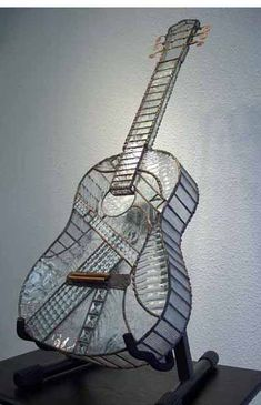 stained glass guitar.Glass Guitar. Black&white. Good vibes only.Beautiful photo.Красивые фотографии.