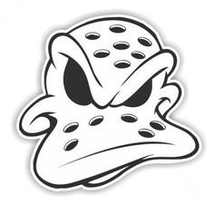 Anaheim Ducks logo: A duck shaped goalie mask Cartoon Drawings, Cartoon Art, Art Drawings, Duck Tattoos, Tribal Tattoos, Graffiti Drawing, Graffiti Art, Arte Cholo, Idee Baby Shower