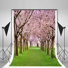 Digital Printed Background Pink Tree Meadow Background Photography For Children Photo Backdrops Photography Backdrops, Photo Backdrops, Pink Trees, Natural Scenery, Photo Studio, Digital Prints, Walmart, Lighting, Children