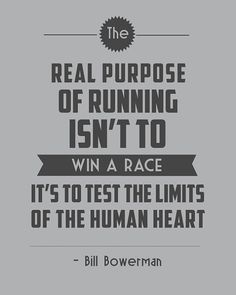 The real purpose of running.