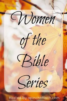 Here's Day 1 of our Women of the Bible Series with 15 all new guest posters!!!