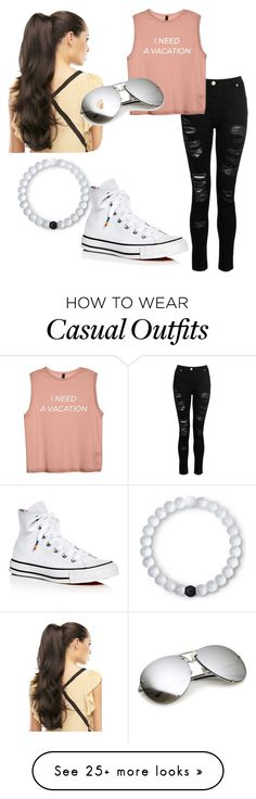 """""""A Casual Summer Day"""" by lovelykitten102468 on Polyvore featuring Dorothy Perkins, Lokai and Converse"""
