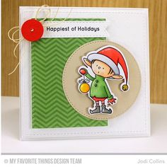 Could this elf from the new #BirdieBrown Santa's Elves set be any cuter??? Love him!! This one is for the new #sweetsundaysketch  #blueprints #cardmaking #dienamics #diecutting #mftstamps #onmyblogtoday #stamping #stampingalatte