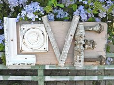 Shabby+Chic+Vintage+LOVE+Sign+Architectural+by+diychicgirl+on+Etsy,+$75.00