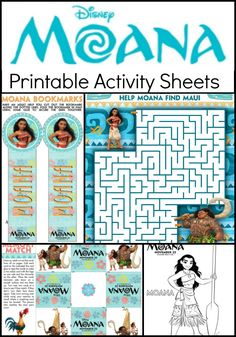 Here are some fun and free printable kids activity sheets and coloring pages from the Disney's Moana movie the kids will enjoy!