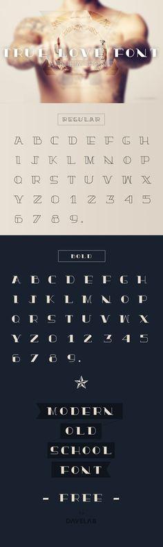 Truelove-for-behance_725 - art deco style font