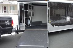 Touch of Class Trailers – Black Nudo Flooring, Twin Cabinets, Spare Tire carrier Snowmobile Trailers, Enclosed Trailers, Trailer Interior, Cabinets, Twins, Touch, Interiors, Flooring, Black