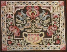 Fraktur Pennsylvania Dutch Ornate Cross Stitch by relativelyretro, $4.00