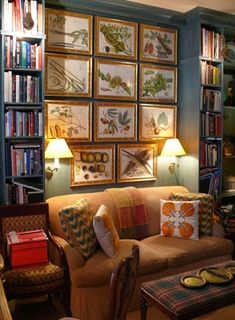 Why A Sofa Set Between Built-Ins Builds Such A Sweet Ambience – 2019 - Sofa ideas Living Area, Living Spaces, Living Room, Br House, Home Libraries, Sofa Set, Loveseat Sofa, Couch, Home And Deco