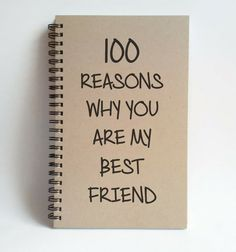 100 Reasons why you are my best friend 5x8 by TheJournalCompany
