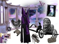 """Nyx Goddess of the Night"" by mystimorgan ❤ liked on Polyvore"