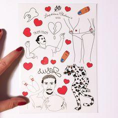 Tattoos éphémères Léopoldine Chateau Format A5 Coeur brisé, léopard, Zlat'…