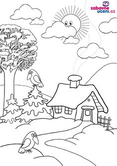 Coloring Pages Nature, Spring Coloring Pages, Flower Coloring Pages, Easy Drawings, Pencil Drawings, Outline Pictures, 1st Grade Math Worksheets, Conversational Prints, Preschool Writing