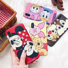 Cases, Covers & Skins Disney Daisy Minnie Pooh Chip Dale Cartoon Matte Case Cover For Iphone X 8 7