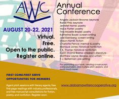 2021 Conference — Alabama Writers Cooperative Jackson Browne, Register Online, Pre Writing, Children's Literature, First Page, Keynote, Memoirs, Nonfiction