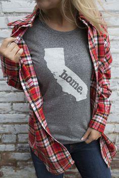 California Home Shirt CA Home State Tee Shirt Gray