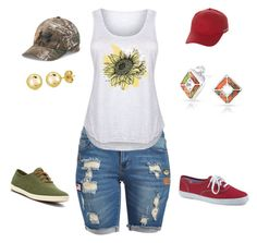 """""""summer fun"""" by sdelrie on Polyvore featuring 1826 JEANS, LC Trendz, Keds, Bling Jewelry, Under Armour, Billabong, BERRICLE and plus size clothing"""