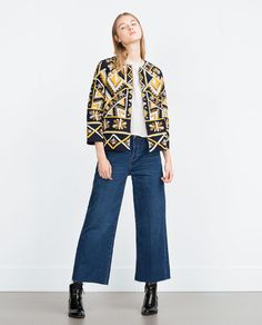 ZARA - NEW IN - EMBROIDERED JACKET