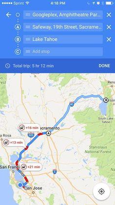 Google Maps iOS recibe los viajes con numerosas paradas