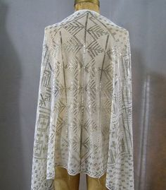 Vintage Art Deco Egyptian Shawl c.1920s