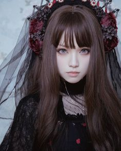 Gothic fashion 479985272785865838 - Source by haotinbao Dark Beauty, Gothic Beauty, Asian Beauty, Estilo Lolita, Harajuku Fashion, Kawaii Fashion, Lolita Makeup, Mode Lolita, Lolita Style
