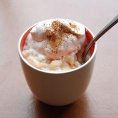 Warm, comforting, guiltless rice pudding, that's vegan to boot.