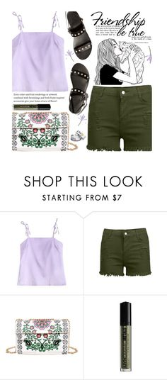 """""""Summer Staple: Denim Cutoffs"""" by beebeely-look ❤ liked on Polyvore featuring NYX, casual, DENIMCUTOFFS, denimshorts and twinkledeals"""