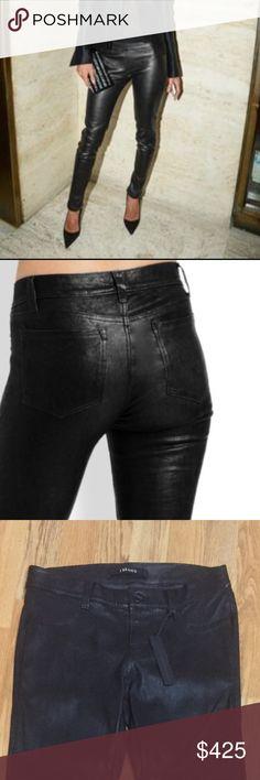 J brand leather pants Gorgeous lamb leather pants ..5 pocket stretch skinny J Brand Pants Skinny