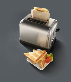 Make grilled cheese in a toaster.