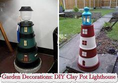 Planter light house, too cute!