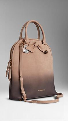 The structured tote is crafted in dégradé nubuck with horn-look embellishments and a hand-tied knot motif. Burberry The structured tote is crafted in dégradé nubuck with horn-look embellishments and a hand-tied knot motif. Beautiful Handbags, Beautiful Bags, Look Fashion, Fashion Bags, Duffle, Burberry Handbags, Burberry Bags, Cute Bags, Mode Outfits